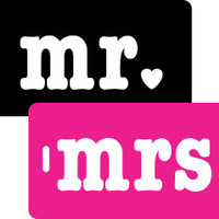 Mr. & Mrs. 2 pc Luggage Tag Gift Set