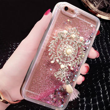 Best Protection Quicksand and Rhinestone iPhone 7 7 Plus & iPhone 6 6s Plus Case Cover + Gift Box