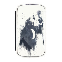 Wolf Song 3 Premium Faux PU Leather Case Flip Case for Samsung Galaxy S4 by Balazs Solti
