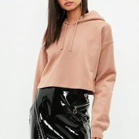 Missguided - Camel Cropped Hoodie