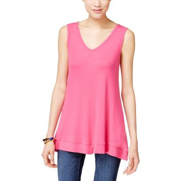 INC Womens Modal Blend Handkerchief Hem Tank Top