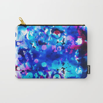 Electric Blue Watercolor Carry-All Pouch by Samantha Lynn