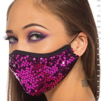 Dust Bunny Mask in Heartbeat Sequin
