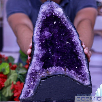 Amethyst Geode Superb Quality Crystal 21 lb Cluster Church Cosmiccuts JG-86R
