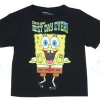 This Is Your Best Day Ever! - Spongebob Squarepants Juvenile Faux Long Sleeve T-shirt