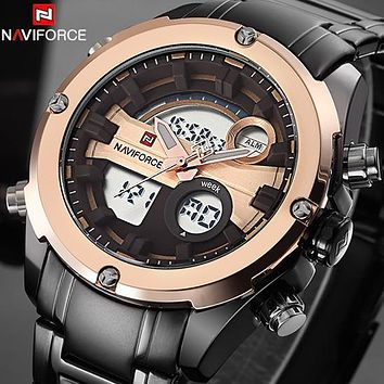 Top Brand NAVIFORCE Men Military Waterproof LED Sports Watches Men's Digital Analog Clock Male Wrist Watch relogio masculino