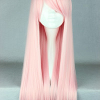 70cm Long Light Pink Lolita Cosplay Wig