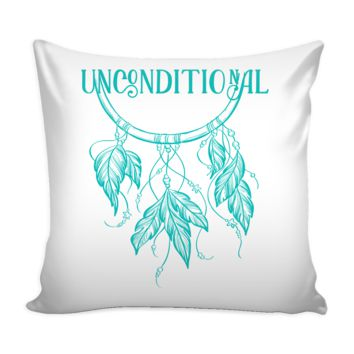 UNCONDITIONAL Bohemian Dream Catcher * White Pillow Cover 16""