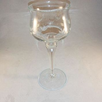 Crystal Tall Candlestick Holder