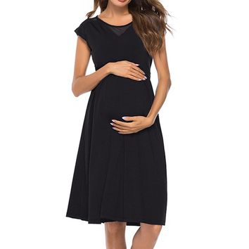 Big Yard Out Lactation Slimming Maternity Dress