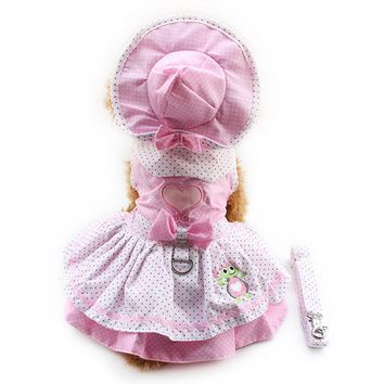 Dot Pink Princess Dress For Dogs