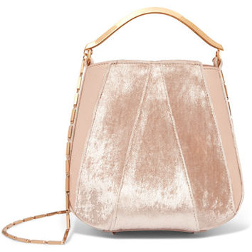 Eddie Borgo - Pepper velvet and leather bucket bag