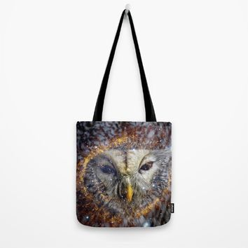 Mystic Owl Tote Bag by lostanaw