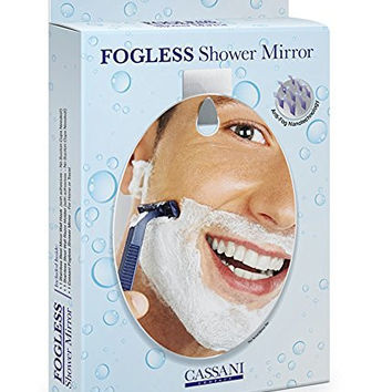 Fogless Shower Mirror - EASY INSTALL - SHATTER PROOF - Includes Razor Hook - Modern - Anti-Fog Nanotechnology - Exclusive To