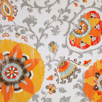 Orange and tangerine floral pillow cover, Fabric both sides , All sizes available