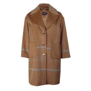 Pendleton Plaid Coat Plus Size