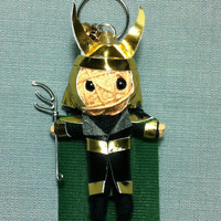 Loki Movie Avengers Superhero Comic Fantasy Voodoo String Doll Keyring Keychain assembles Key Ring Chain Bag Decor Adventure Fabric Craft