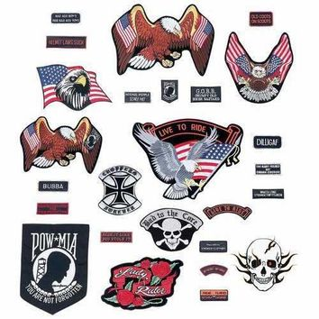 26pc Embroidered Motorcycle Patch Set