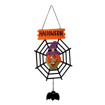 Pumpkin Witch Ghost Halloween Door Hanging for Home Decor Party Holiday DIY Decorations Halloween Door Hanging Party Supplies