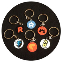Pokemon Villain Team Single or Double-sided Keychains