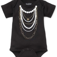 Gold & Pearl Layered Necklaces Baby Bodysuit by Sara Kety - Whimsical & Unique Gift Ideas for the Coolest Gift Givers