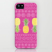 Pineapples #2 iPhone & iPod Case by Ornaart