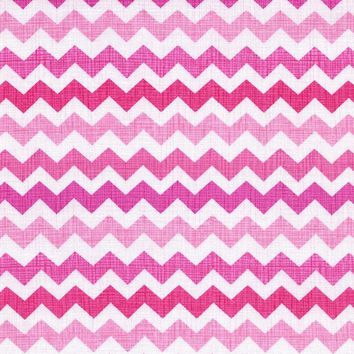 Sweetheart Small Chevron Designer Fabric by the Yard   100% Cotton