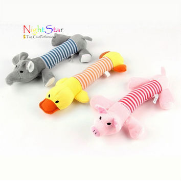 New Pet Toy Squeaky Duck Elephant Dog Toys Puppy Chew Sound Plush Toys 3 Designs Toys products