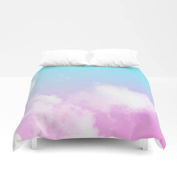 Pink Summer Clouds Duvet Cover by Trevor May