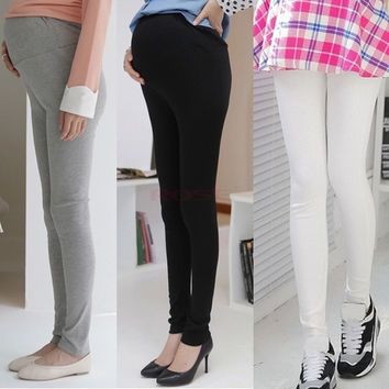 Women's Leggings Pregnant Women Maternity Adjustable Cotton Pants Autumn Winter Plus Size Warm Trousers SV012365|26601 = 1745562884