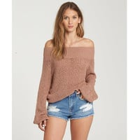 ROLLED UP OFF-THE-SHOULDER SWEATER