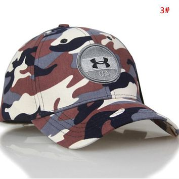 Under Armour Fashion New Embroidery Letter Sun Protection Camouflage Cap Hat 3#