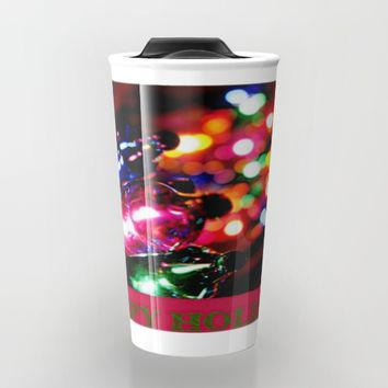 HAPPY HOLIDAYS Travel Mug by Jessica Ivy