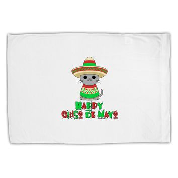 Happy Cinco de Mayo Cat Standard Size Polyester Pillow Case by TooLoud