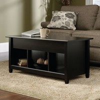 Sauder Edge Water Collection Storage Coffee Table (Black)