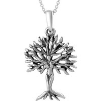 "Brinley Co. Sterling Silver Tree of Life Pendant, 18"" - Walmart.com"