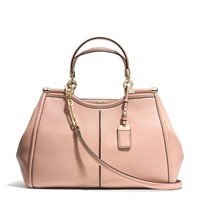 MADISON PINNACLE CAROLINE SATCHEL IN TEXTURED LEATHER