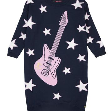 Girls Guitars And Stars Sweater Dress by Juicy Couture