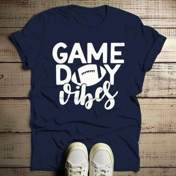 Men's Game Day Vibes T Shirt Football Tshirt Football Shirts Graphic Tee Football Mom