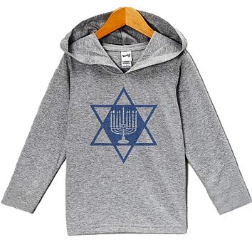 Custom Party Shop Baby's Menorah Hanukkah Hoodie Grey