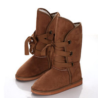 Winter Lace Up Snow Boots