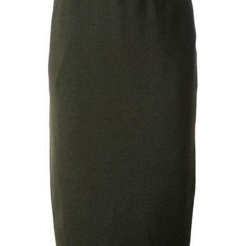ONETOW Céline Vintage knitted pencil skirt