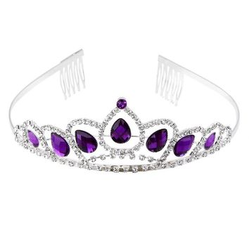 Delicate Wedding Bridal Rhinestone Crown Princess Tiara Headband Headpiece