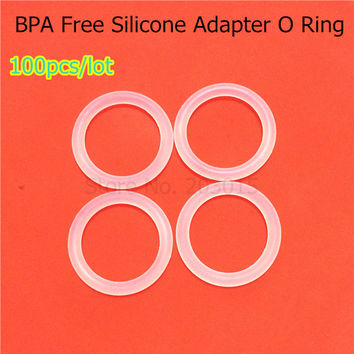 100PCS Clear Transparent BPA Free Silicone Baby Pacifier Adapter Chain Holder O Rings MAM NUK Dummy Rings for Napkin