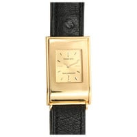 Tiffany & Co. Yellow Gold Rectangular Wristwatch Designed by Schlumberger circa 1980s