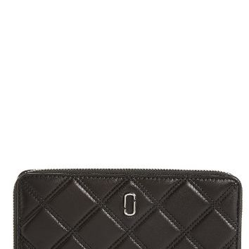 MARC JACOBS Quilted Leather Zip Wallet | Nordstrom