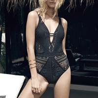 Becca 'Show & Tell' Openwork One-Piece Swimsuit | Nordstrom
