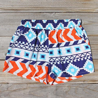The Billy Native Shorts in Blue