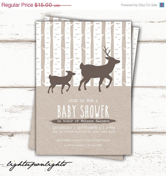 best deer baby shower invitations products on wanelo, Baby shower invitations