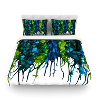 "Claire Day ""Drops"" Queen Fleece Duvet Cover - Outlet Item"